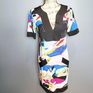 Emilio Pucci silk Jersey short sleeve dress size 2